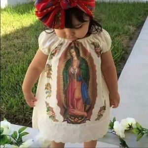 Our Lady of Guadalupe Dress & Headband for Girls
